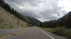 Bear Tooth Mountain Pass Vehicle Point of View Time Lapse Stock Footage