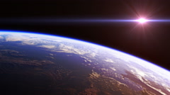 Beautiful View Of Planet Earth From Space. Seamless Looped. 4K. 3840x2160. Stock Footage