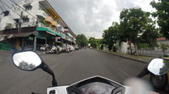 Motorcycle Ride Through Rain in Chiang Mai, Thailand Stock Footage