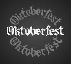 Oktoberfest chalk lettering. Single word Piirros