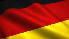 Germany National Flag Video - Windy German Flag Stockfootage Stock Footage