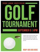Golf Tournament Flyer Invitation Illustration Stock Illustration