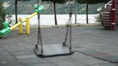 Depression empty swing, pessimistic Stock Footage