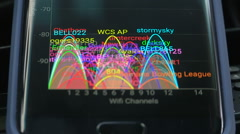 Congested WiFi wireless internet network in residential area on campus Stock Footage
