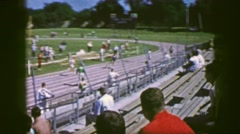 1961: afternoon track meet IOWA Stock Footage