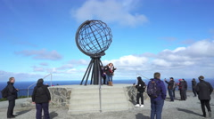 North cap earth globe - Nordkapp, Norway Stock Footage