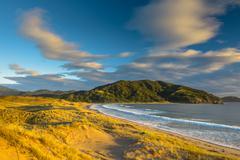 Waikawau Bay Sunrise Stock Photos