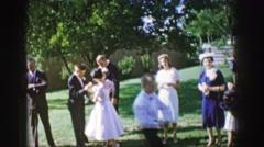 1961: minutes before wedding preparations IOWA Stock Footage