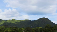Time lapse of nature panorama, Seychelles island Stock Footage
