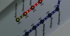 Integrated rail system of Kuala Lumpur, Malaysia Stock Footage
