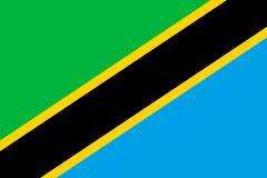 Flag of Tanzania in correct size, proportions and colors. Stock Illustration