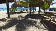 HD uninhabited island Klein Curacao paradise Stock Footage