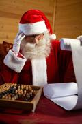 Christmas, new, Year, santa, claus, winter, holiday, season, fai Stock Photos