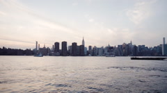 New York City - sunset - summer 2016 - 4k Stock Footage