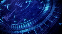 Blue Element.Head up display. Stock Footage