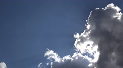 White fluffy clouds motion timelapse Stock Footage