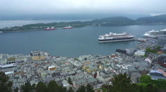 Panoramic view of Alesund, Norway Stock Footage