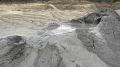 Bubble mud volcanoes, natural phenomenon  Stock Footage