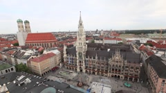 New Town Hall on Marienplatz square in Munich Stock Footage