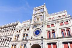 Zodiac clock, Venice, Italy Stock Photos
