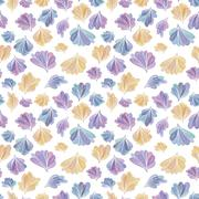 Abstract Fall Leaves Vector Pattern Piirros