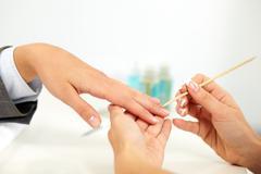 Female manicure Stock Photos