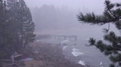 A snowstorm strike at Lake Tahoe, Nevada. Stock Footage
