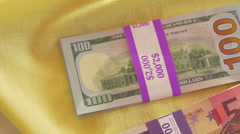 American and euro currency european Stock Footage