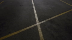 Empty parking lot at night Stock Footage