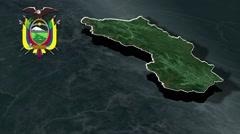 Zamora-Chinchipe with Coat Of Arms Animation Map Stock Footage