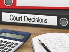 Court decisions on binders Stock Illustration
