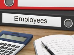 Employees on binders Stock Illustration