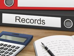 Records on binders Stock Illustration