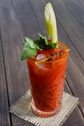 Bloody mary cocktail garnished with celery, popular alcohol drink Stock Photos