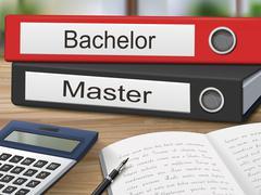 Bachelor and master binders Stock Illustration