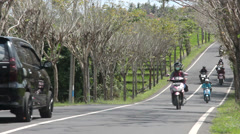 Road in Bali, Scooters in Indonesia Stock Footage