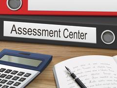 Assessment center on binders Stock Illustration