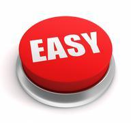 Easy push button concept 3d illustration Stock Illustration