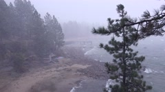 A snowstorm strike at Lake Tahoe, Nevada. Stock Footage