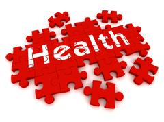 Health puzzle concept 3d illustration Stock Illustration