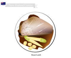 Roasted Lamb Legs, The Popular Dish of New Zealand Stock Illustration
