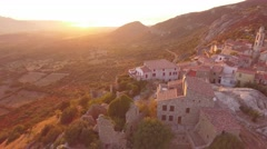 Aerial Scenes showing the beautiful French Island Corse (Corsica) Stock Footage