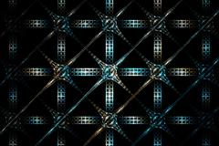 Abstract fractal geometric blue and white silver grid image Stock Illustration
