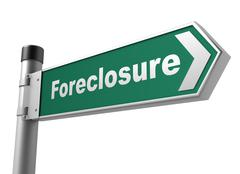 Foreclosure road sign Piirros