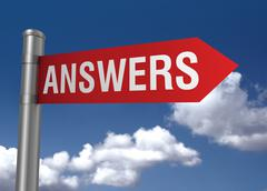Answers road sign Stock Illustration