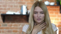 Amazed And Shocked Girl  Stock Footage