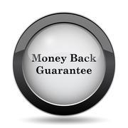 Money back guarantee icon. Internet button on white background.. Stock Illustration