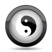Ying yang icon. Internet button on white background.. Stock Illustration