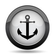 Anchor icon. Internet button on white background.. Stock Illustration