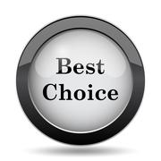 Best choice icon. Internet button on white background.. Stock Illustration